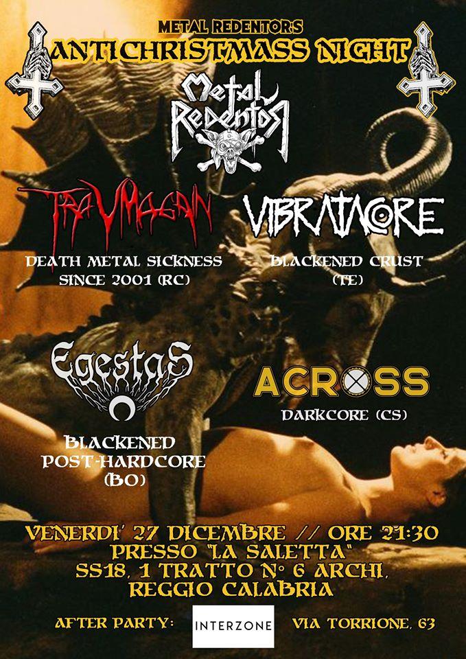 Antichristmass Night // Traumagain, Vibratacore, Across, Egestas