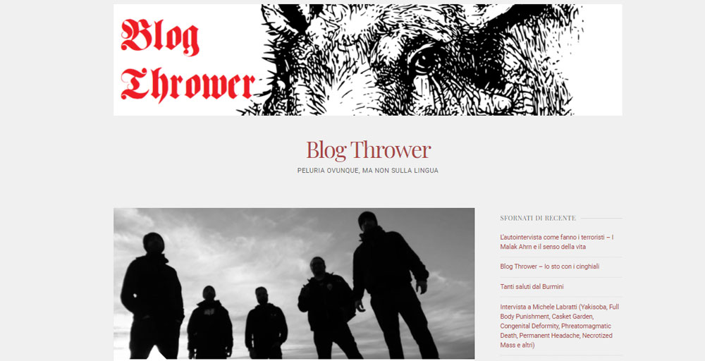 Blog Thrower: la prima intervista agli EGESTAS